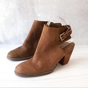 COLE HAAN Brown Leather Pippa Slingback Bootie 6.5